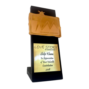 Award for contribution in the successful cult youth show 'Love Story'. The show and its songs became a nationwide rage.